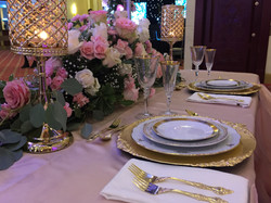 Blush and Pink table scape