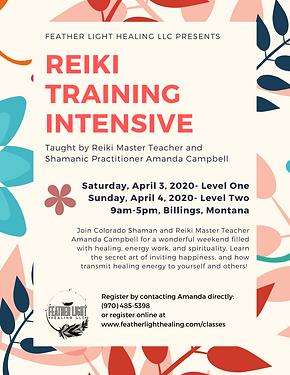 Billings Reiki Intensive April 2020 Pg 1