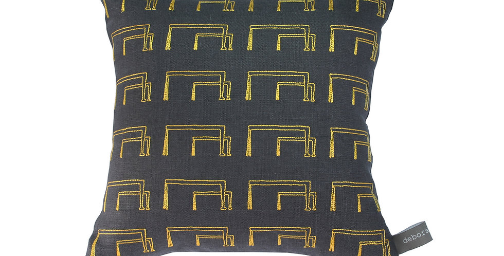 Samson and Goliath Cranes Pattern Cushion.