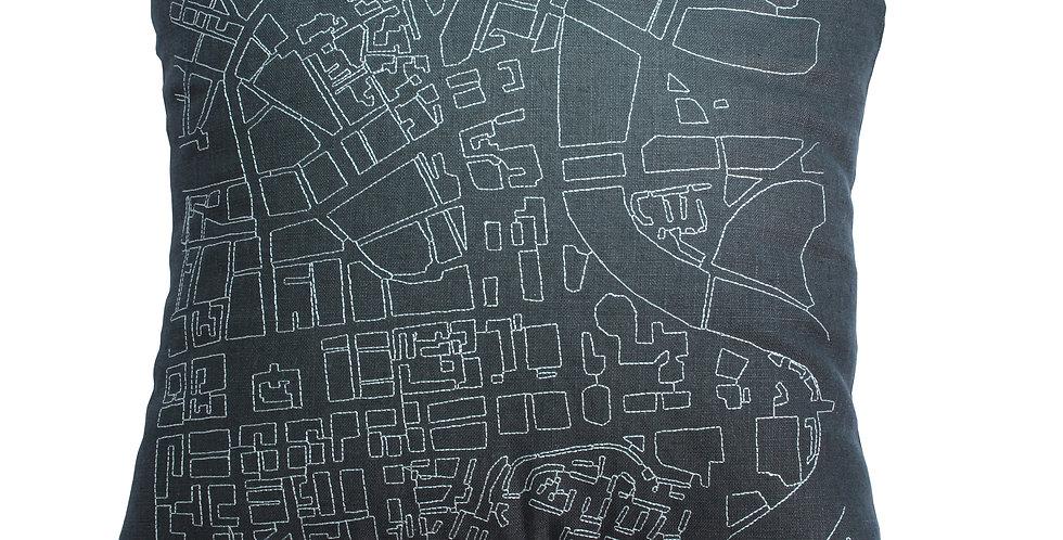 Large Belfast Map Cushion