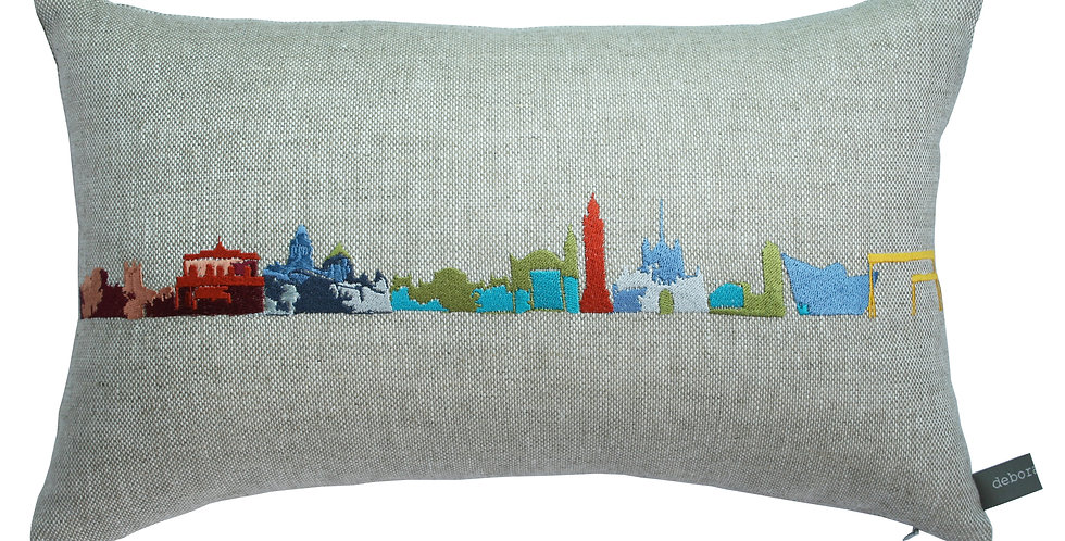 Belfast Skyline Multi Coloured Cushion