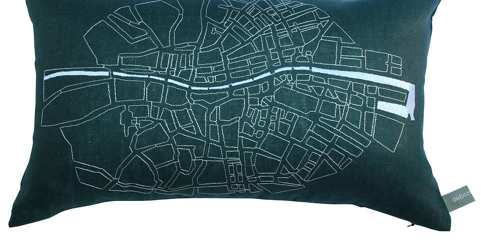 Dublin Liffey Map Cushion