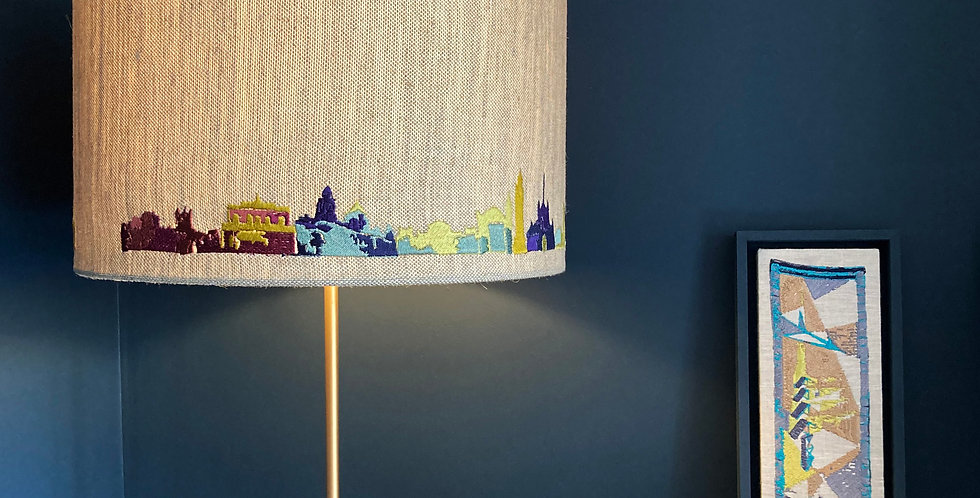 Multicoloured Skyline Lampshade