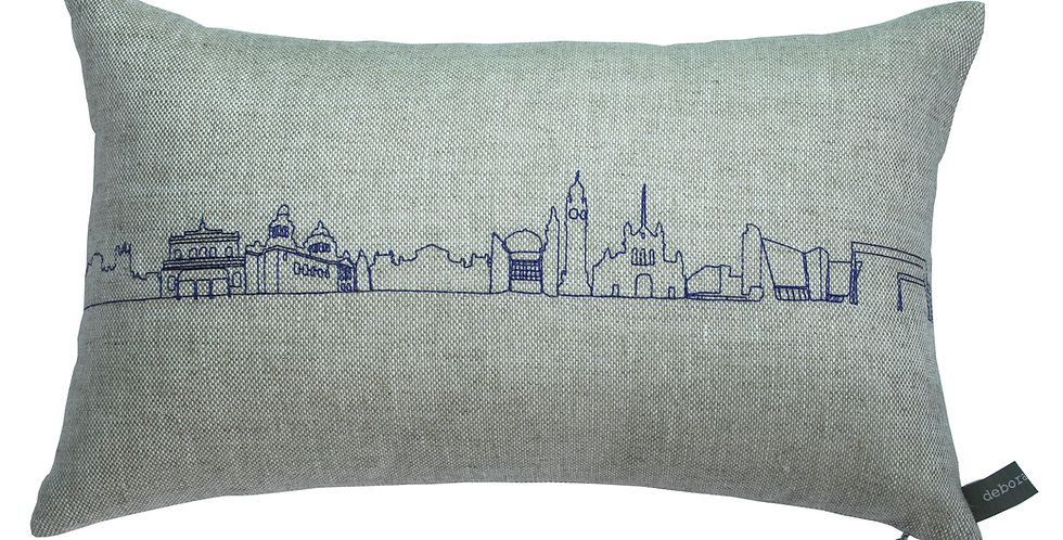 Long Belfast Skyline Cushion