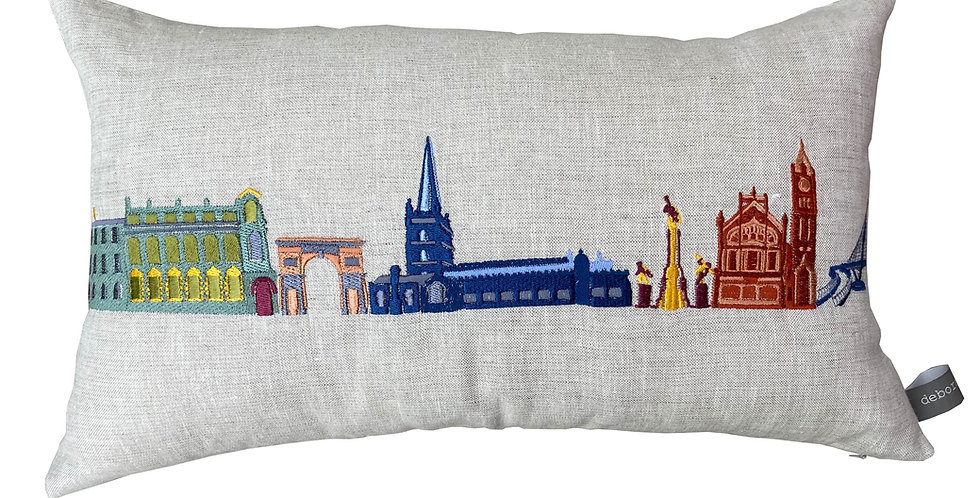 Derry Skyline Multi Coloured Cushion