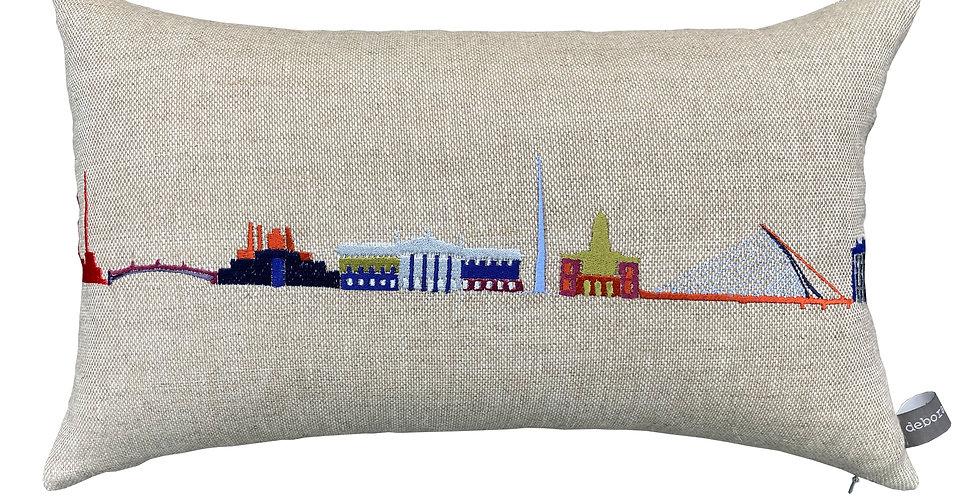 Dublin Skyline Multi Coloured Cushion
