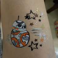 BB8 Face Paint
