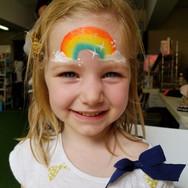 Quick rainbow face paint