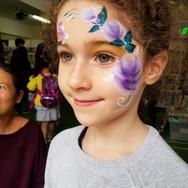 Purple Roses Face paint