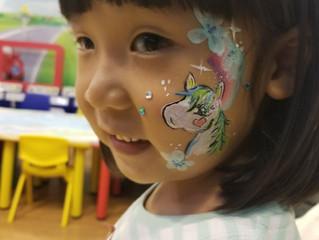 A Unicorn Face Paint Marathon