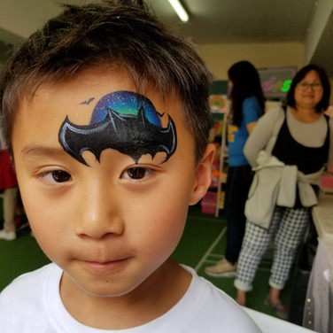 Batman at night Face Paint