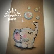 Baby Elephant Face Paint