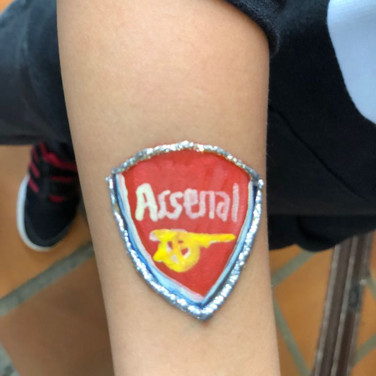 Arsenal Emblem Face Paint