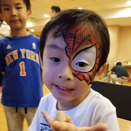Spiderman face paint
