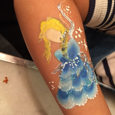 Elsa Full Character Arm Painting Design
