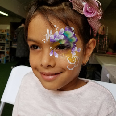 1-sided Butterfly Face Paint