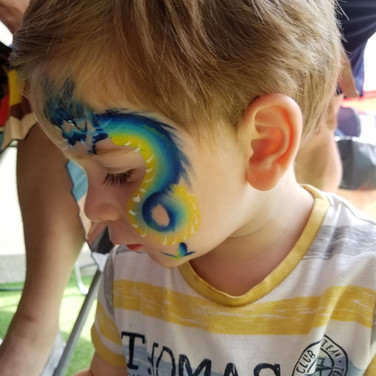Dragon face paint