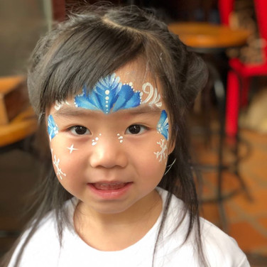Elsa Crown Face Paint