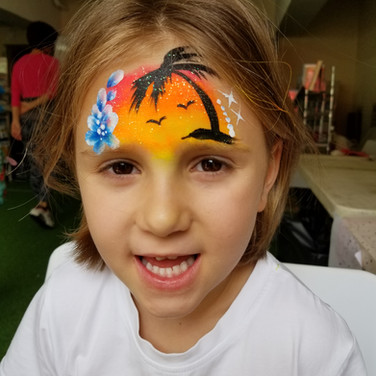 Tropical Beach Face Paint