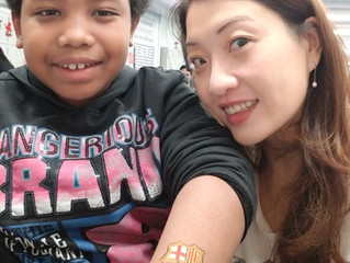 Christmas Face Paint Volunteering Service at West Island School