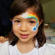 Neon Rainbow face paint