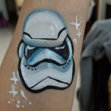 Stormtrooper face paint