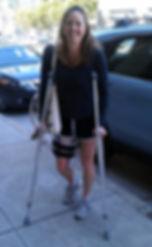 diana on crutches