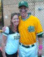 Diana with USF Baseball player