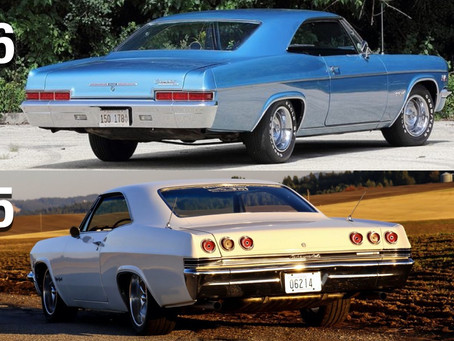 Differences between a 1965 and 1966 Impala