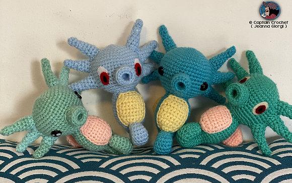 Amigurumi Crochet Pokémon Horsea / Hypotrempe Nintendo ( inspiré )