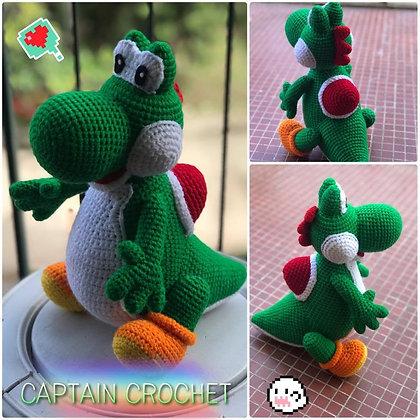 Amigurumi Yoshi au crochet - Univers Mario