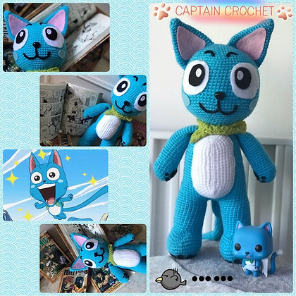 Amigurumi Happy du manga Fairy Tail - fait main - crochet