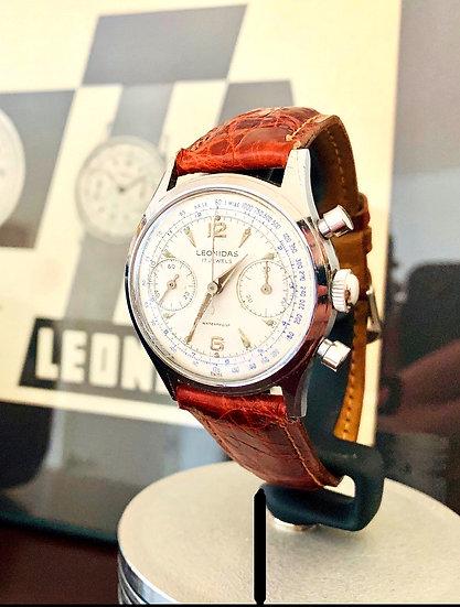 1940s Pre Heuer Leonidas Big Eye Pilots Chronograph Venus 188