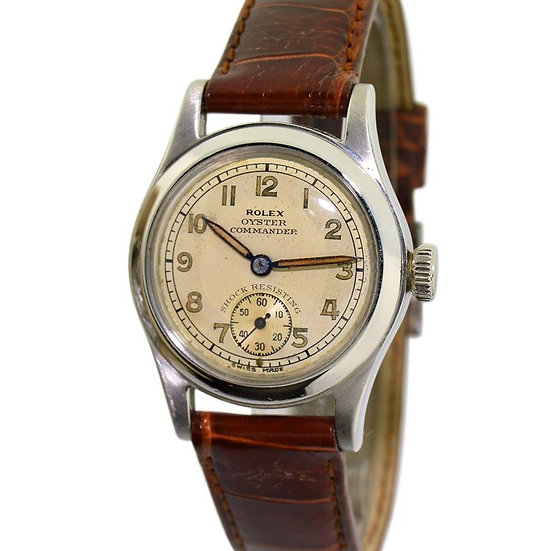 1940s one of a kind Rolex Oyster Commander Canadian Military Issue