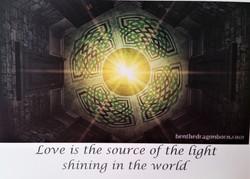Celtic design in light