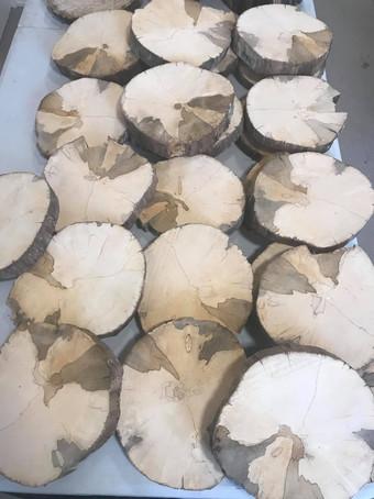 Dessous de plat rondin de bois