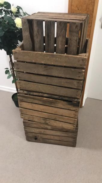 Caisse en bois déco