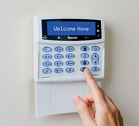 home alarm fitted in crewe using a texecom alarm