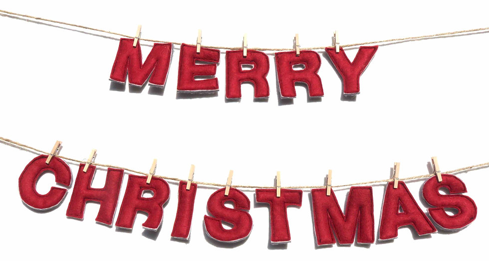 """Merry Christmas"" Garland"