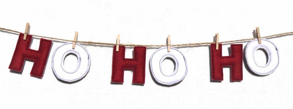 """""""Ho Ho Ho"""" Garland"""