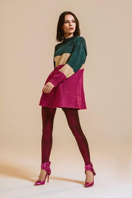 Vestito corto tricolore