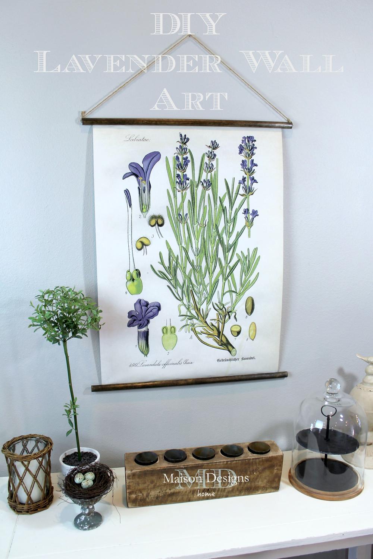DIY Botanical Lavender Wall Art