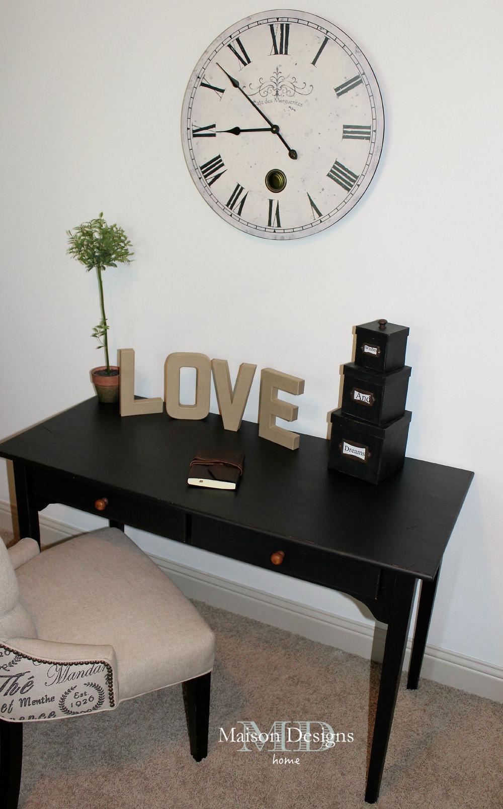 Desk Makeover - Maison Designs Home