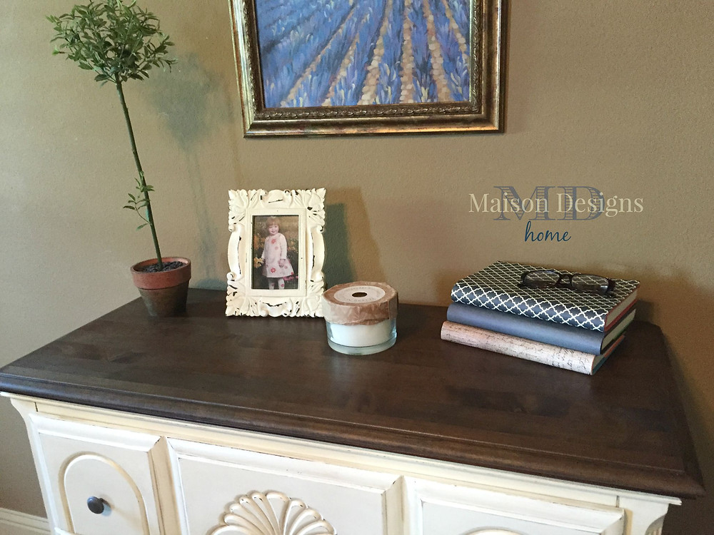 Vanilla Bean Dresser Paint Makeover - Maison Designs Home