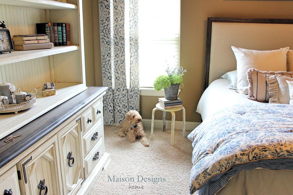 Vintage Dresser Makeover-Bedroom Remodel-Maison Designs Home