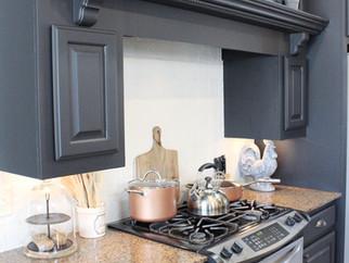 DIY Kitchen Remodel-Painting Cabinets & Tile Backsplash