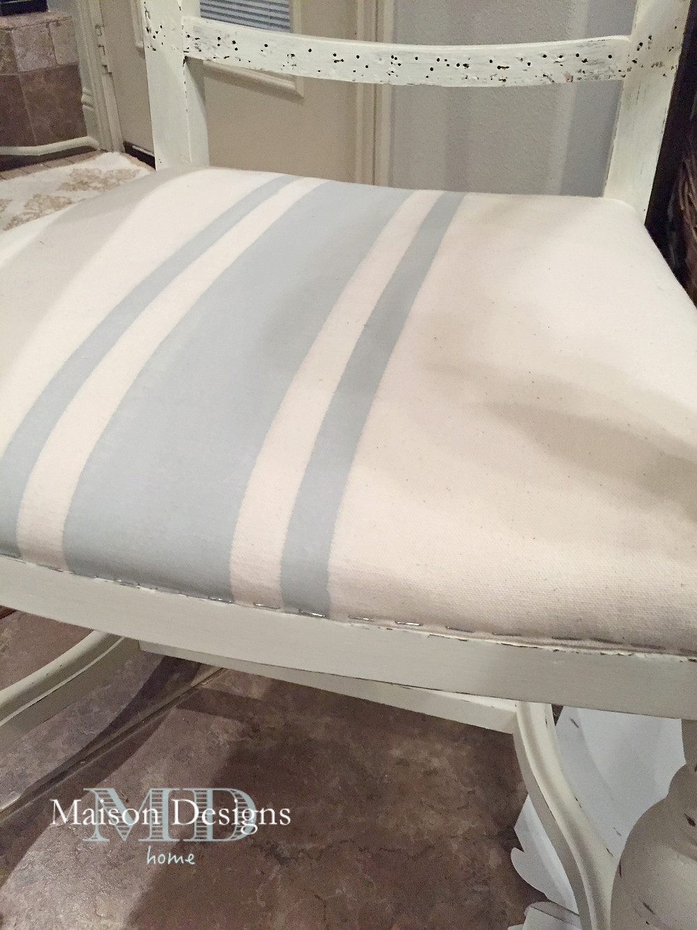 French Country Chair upholstery tutorial ~ Maison Designs Home