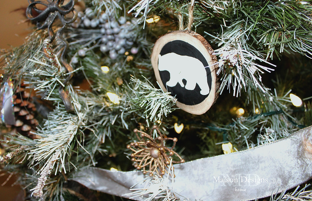 DIY Wooden Silhouette Bear Ornament