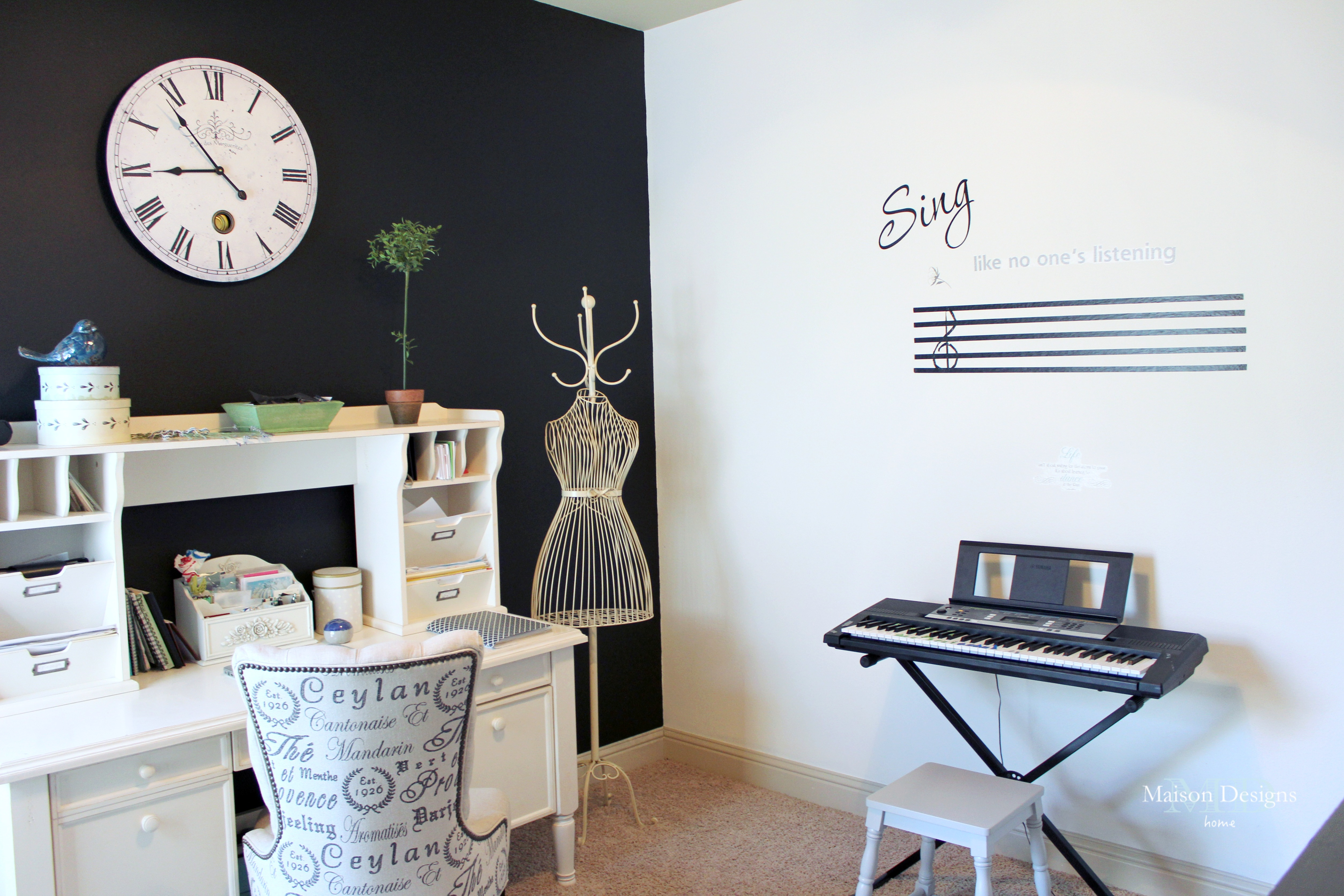 Chalkboard Wall Office Update