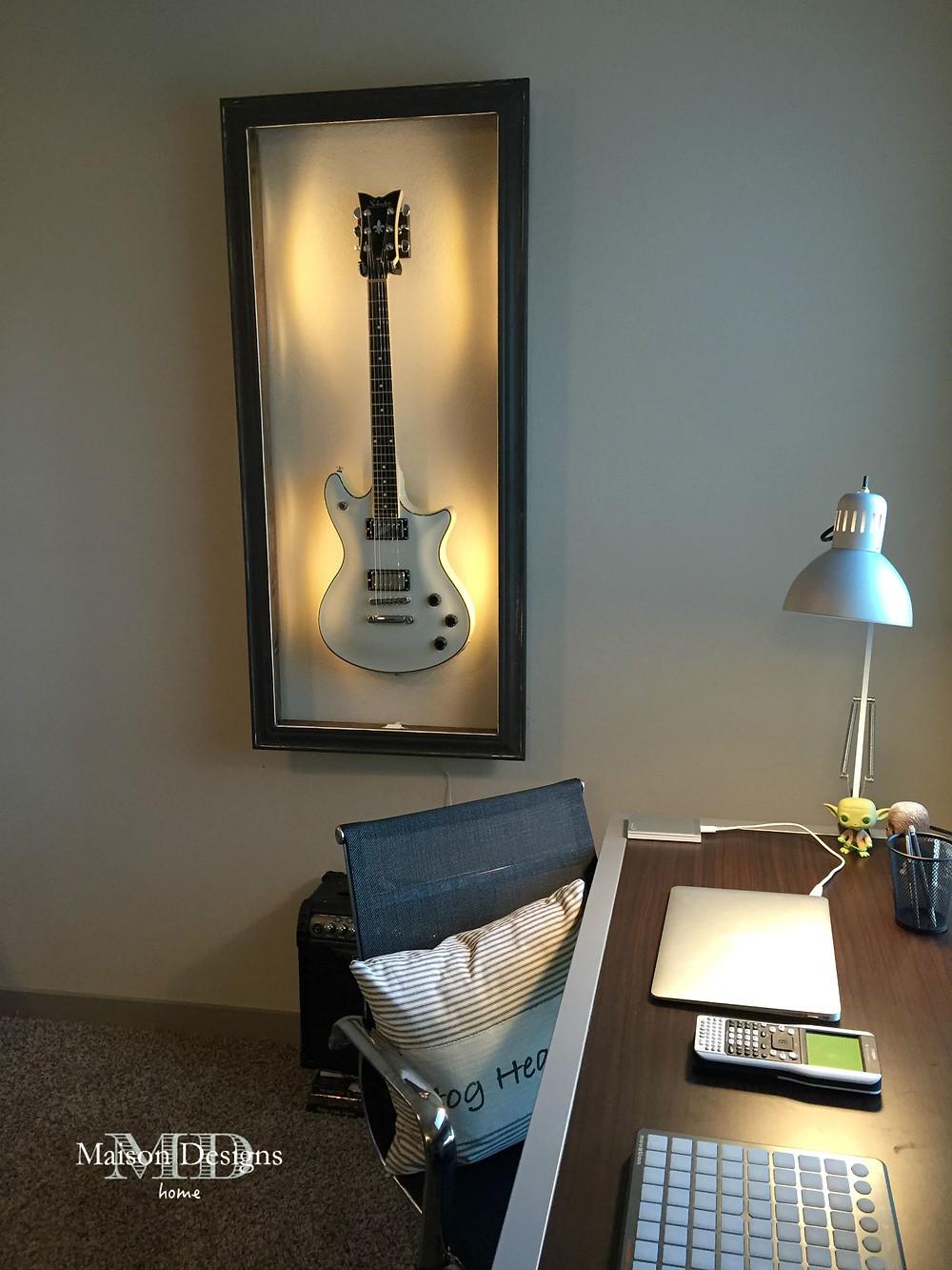 DIY Guitar Shadow Box-Maison Designs Home